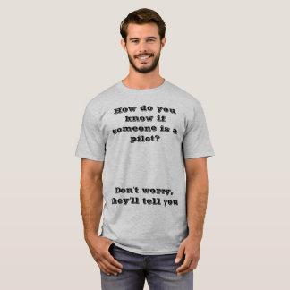 T-shirt piloto da piada