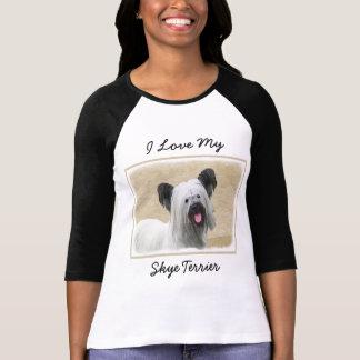 T-shirt Pintura de Skye Terrier - arte original bonito do