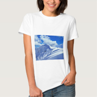 T - shirt pintura montanhas neva tshirts