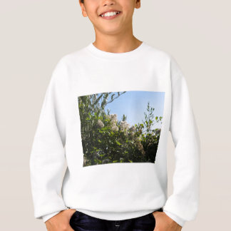 T-shirt Planta selvagem com as flores brancas no arbusto