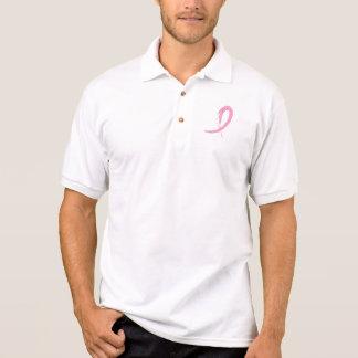 T-shirt Polo A fita cor-de-rosa A4 do cancro da mama