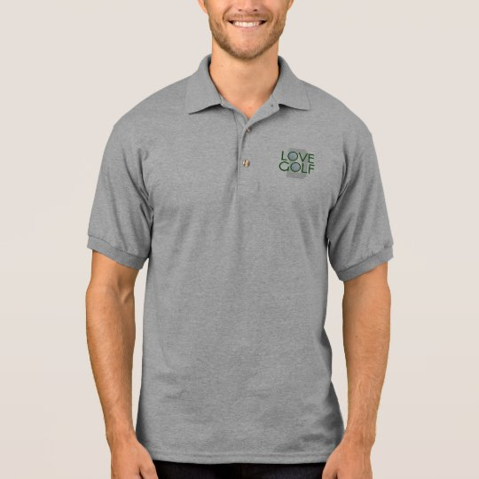 T-shirt Polo Pólo Golfing do monograma do golfe do amor do pai