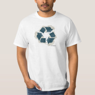 t-shirt poopy da onda do reciclar