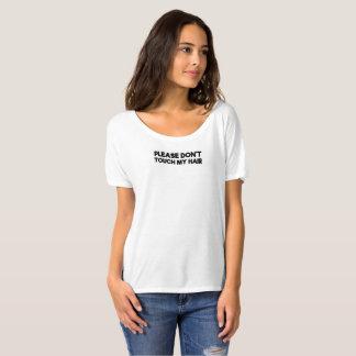 T-shirt Por favor não toque em meu cabelo