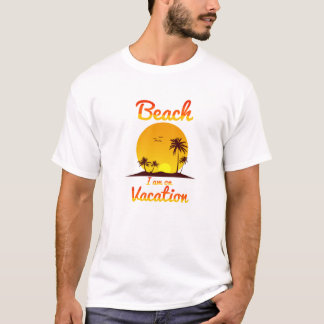 T-shirt Praia eu estou em férias