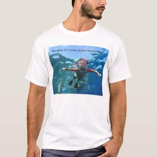 T-shirt Preocupar-se é um desperdício de sua imaginação
