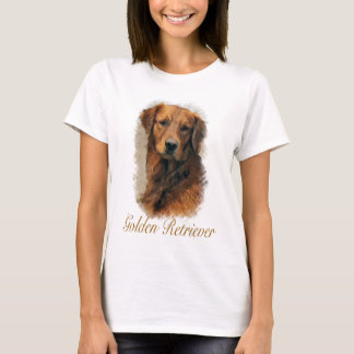 T-shirt Presentes da arte do golden retriever