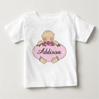 T-shirt Presentes personalizados do bebê de Addison