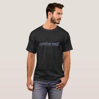 T-Shirt Preta Em Forma