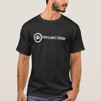 T-shirt preta - Partilhar é cuidar