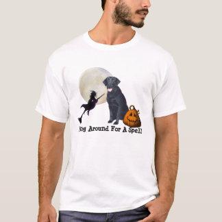 T-shirt preto das senhoras de labrador retriever