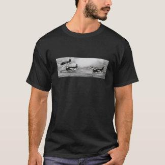 T-shirt preto do tema da aviação dos homens
