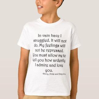 T-shirt Proposta do Sr. Darcy do orgulho e do preconceito