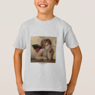 T-shirt Querubim de Sistine Madonna, Raphael 1514