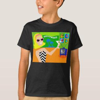 T-shirt retro da estrela de cinema