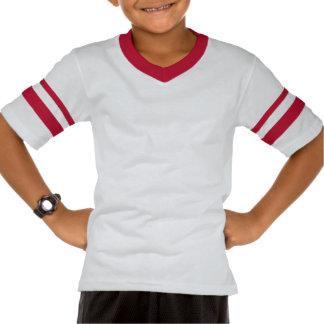 T-shirt retro de Rocketship com listras vermelhas/