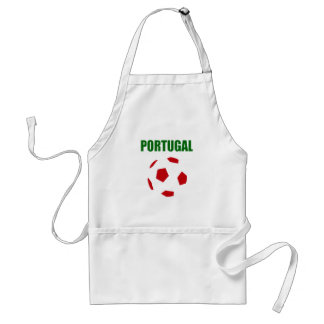 T-shirt retro do futebol de Portugal Avental