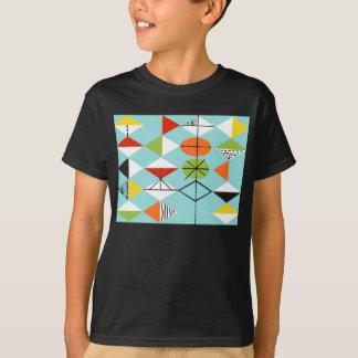 T-shirt retro do teste padrão do Harlequin