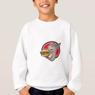 T-shirt Retro oval do Hamburger do serviço da mascote do