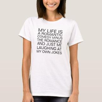 T-shirt romântico da comédia