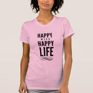 T-shirt Rosa tipográfico das citações da esposa feliz