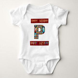 T-shirt Roteiro de HappyBirthday - alfabeto ALFA