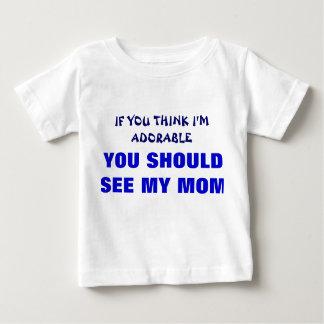 T-shirt Roupa engraçada do bebê