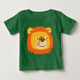 T-shirt saboroso bonito do bebê do leão dos