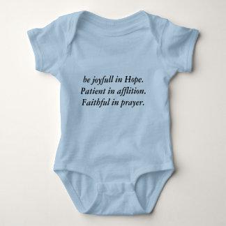 T-shirt Seja alegre no paciente da esperança na aflição…