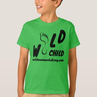 T-shirt selvagem da criança