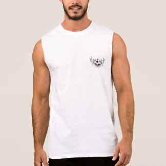 T-shirt sem mangas do algodão dos homens (YouTube