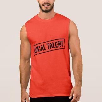 T-shirt sem mangas do talento local da luta -