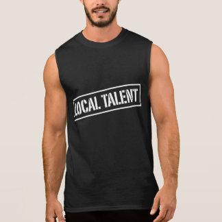 T-shirt sem mangas do talento local da luta