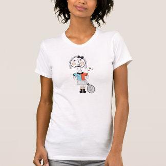 T-shirt Série subtil dos illustraties do hipster da menina