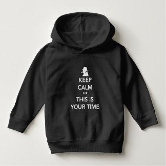 T-shirt Seu Hoodie da obscuridade da criança do tempo