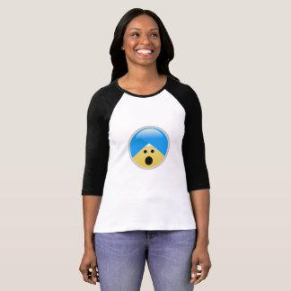T-shirt silenciado americano de Emoji do turbante