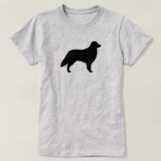 T-shirt Silhueta revestida lisa do Retriever