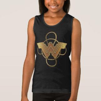 T-shirt Símbolo do ouro da mulher maravilha sobre o laço
