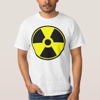 T-shirt Símbolo radioativo do símbolo da radiação nuclear