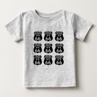T-shirt Sinais da rota 66
