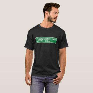 T-shirt Sinal de estrada despreocupado da estrada