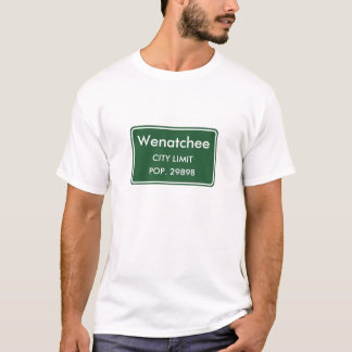 T-shirt Sinal do limite de cidade de Wenatchee Washington