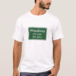 T-shirt Sinal do limite de cidade de Woodway Texas