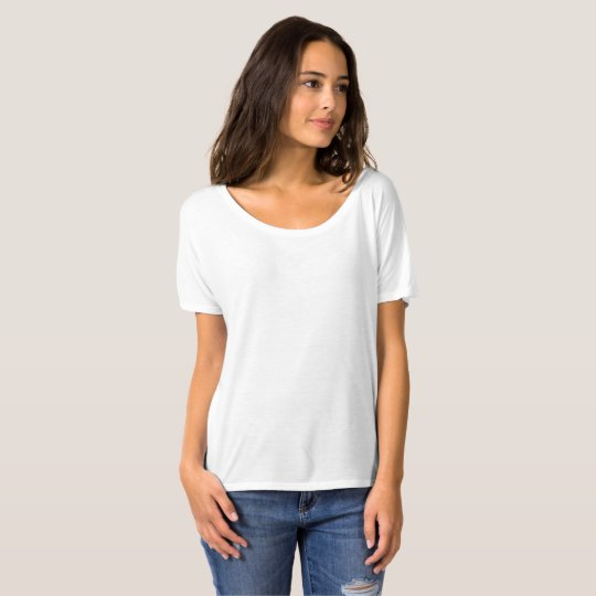 Camisetas Femininas Bella Flowy Simple, Branco
