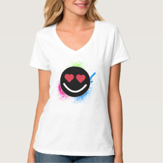T-shirt smiley para mulher