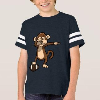 T-shirt Solha de toque ligeiro do futebol do macaco
