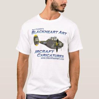 T-shirt T Blackheart da arte P38