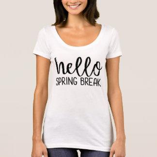 T-shirt T do professor das férias da primavera