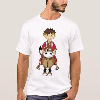 T-shirt T romano do imperador & do cavalo