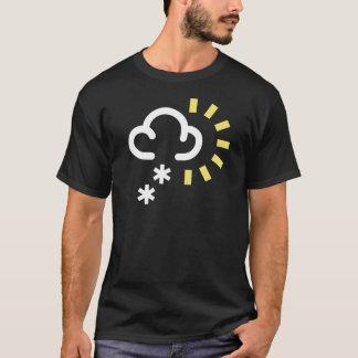 T-shirt Tempestade da neve: Símbolo retro da previsão de